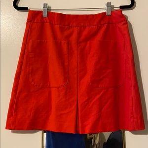 Loft cherry red miniskirt